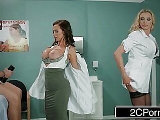 Dick Stuck In Fleshlight Doctors Briana Banks Nikki Benz Give Hand
